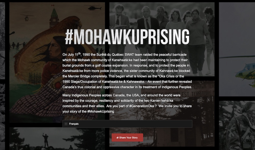 Mohawk Uprising Website